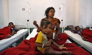 Women wait for treatment at the Chhattisgarh Institute of Medical Sciences (CIMS) hospital in Bilaspur, after attending one of the sterilisation camps.
