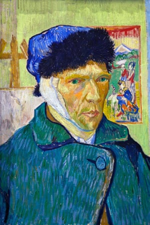Self-portrait with Bandaged Ear, by Vincent van Gogh, 1889.