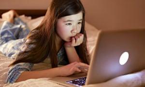 Children going online