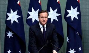 David Cameron at Australian parliament