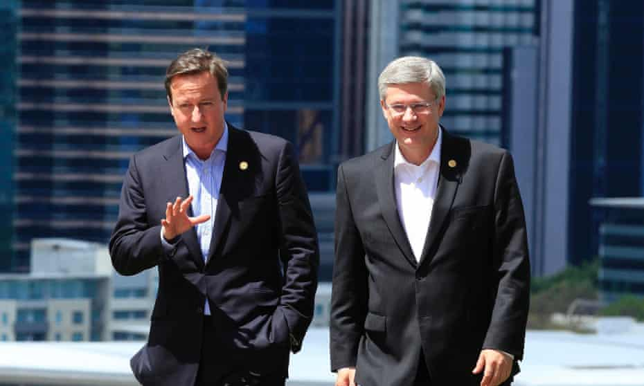 David cameron Stephen Harper