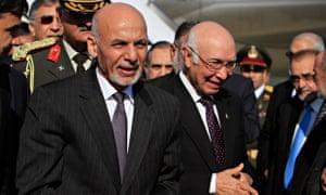 Afghan president Ashraf Ghani in Pakistan