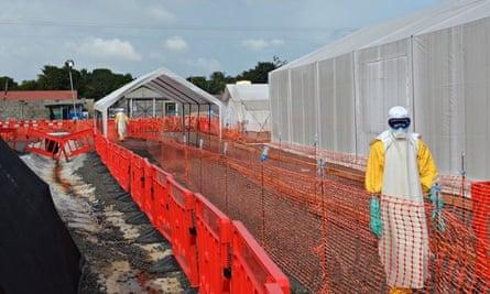 MSF Ebola treatment cenre
