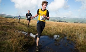 Competitors in the Withins Skyline race in West Yorkshire, October 2014.