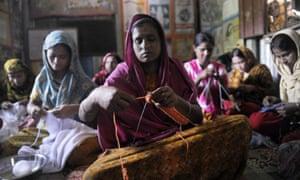 Women knitting Bangladesh