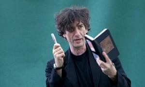 Neil Gaiman with 'a little empathy machine'