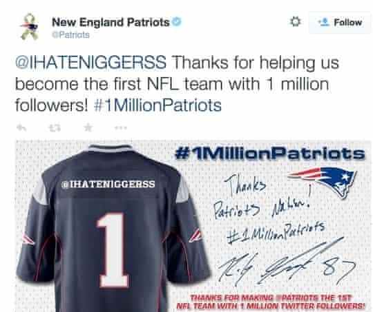 Patriots tweet