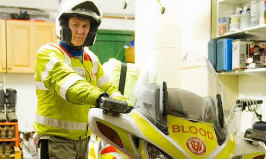 Blood biker Nigel Richardson