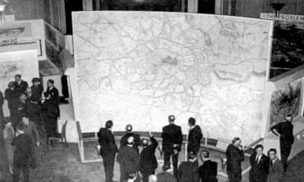 Presentation of The County of London Plan on Exhibition, UK, 1943