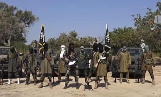 Boko Haram's Abubakar Shekau delivering a speech