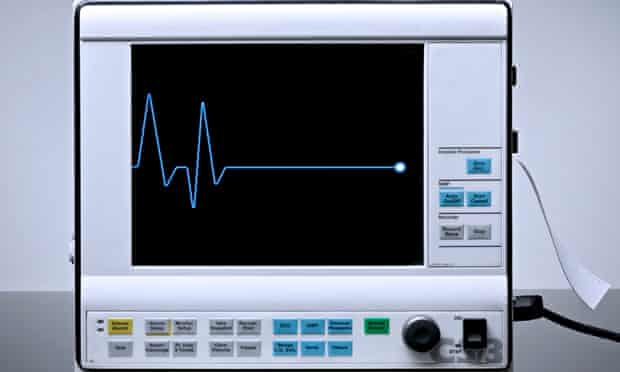 Flatline signal on heart rate monitor