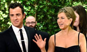 Actor Justin Theroux and actress Jennifer Aniston