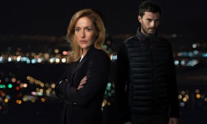 Gillian Anderson and Jamie Dornan in The second series of The Fall