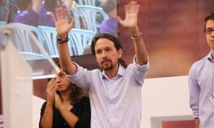 Pablo Iglesias of Spain's Podemos movement.