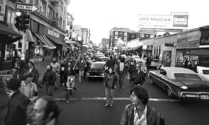 5 September 1969: Anti-Vietnam war demonstrators march on Telegraph Avenue carrying posters of North Vietnam's president, Ho Chi Minh