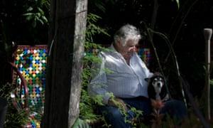 José Mujica with his dog Manuela