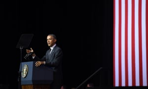 US President Barack Obama addresses a crowd at the University of Queensland (UQ) in Brisbane, Saturday, Nov. 15, 2014. President Obama is attending the G20 world leaders summit taking place in Brisbane November 15-16.