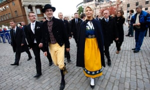 Jimmie Akesson, leader of the rightwing Sweden Democrats party, and his girlfriend Louise Erixson,