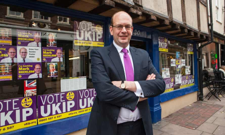 Mark Reckless, the UKIP candidate for the Rochester and Strood byelection.