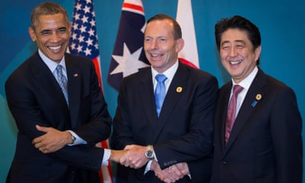 Barack Obama, Tony Abbott and Shinzo Abe at the G20