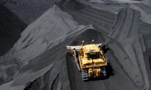 Coal stockpile in Queensland