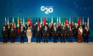 G20 leaders pose for a photo