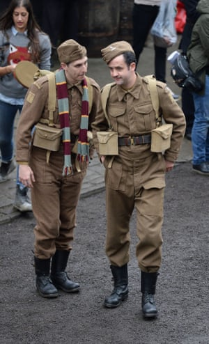 Blake Harrison who plays Private Pike (left) and Daniel Mays who plays Walker.