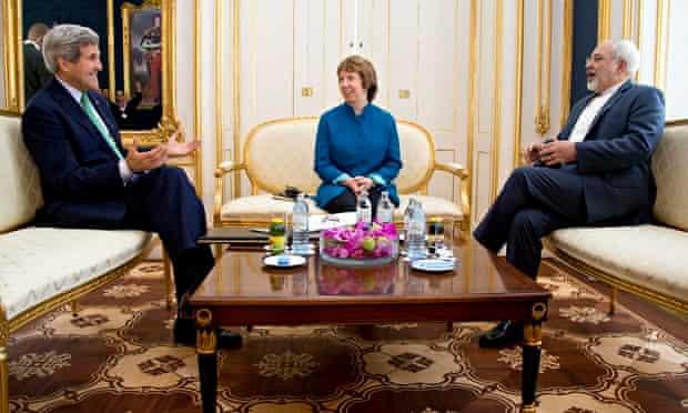 John Kery, Catherine Ashton and Mohammad Javad Zarif