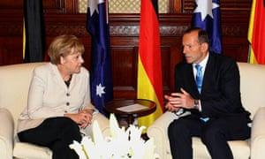 Angela Merkel and Tony Abbott