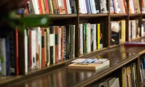 Bookshelves in book shop
