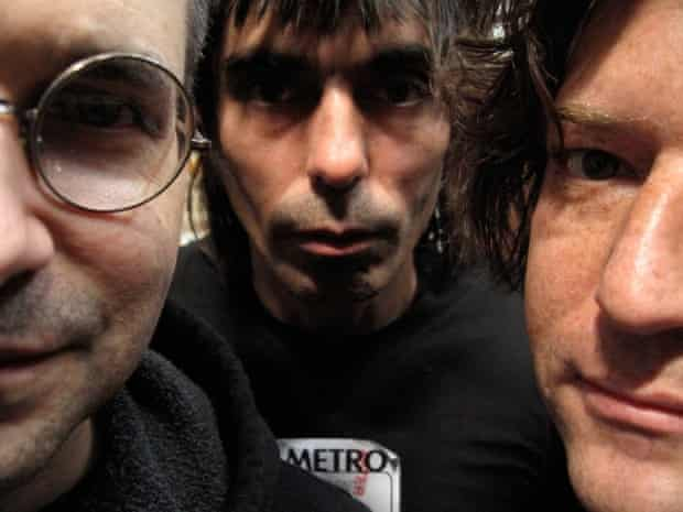 Steve Albini with his Shellac bandmates, Todd Trainer and Bob Weston
