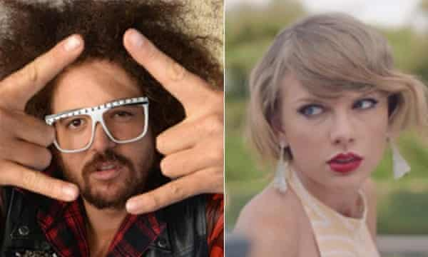 Redfoo and Taylor Swift composite