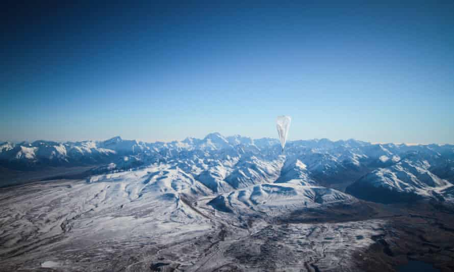 Google's Project Loon has so far test-flown internet balloons over New Zealand