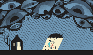 kaci hickox bike ride illustration