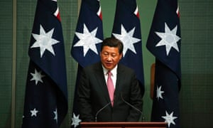 China s president Xi Jinping speaks in the House of Representatives at the Australian parliament in Canberra on Monday.
