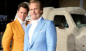 Jim Carrey and Jeff Daniels at the LA premiere of Dumb and Dumber To.