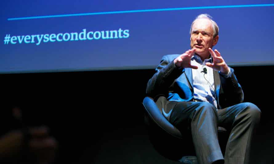 Sir Tim Berners-Lee speaking at the Every Second Counts Forum.