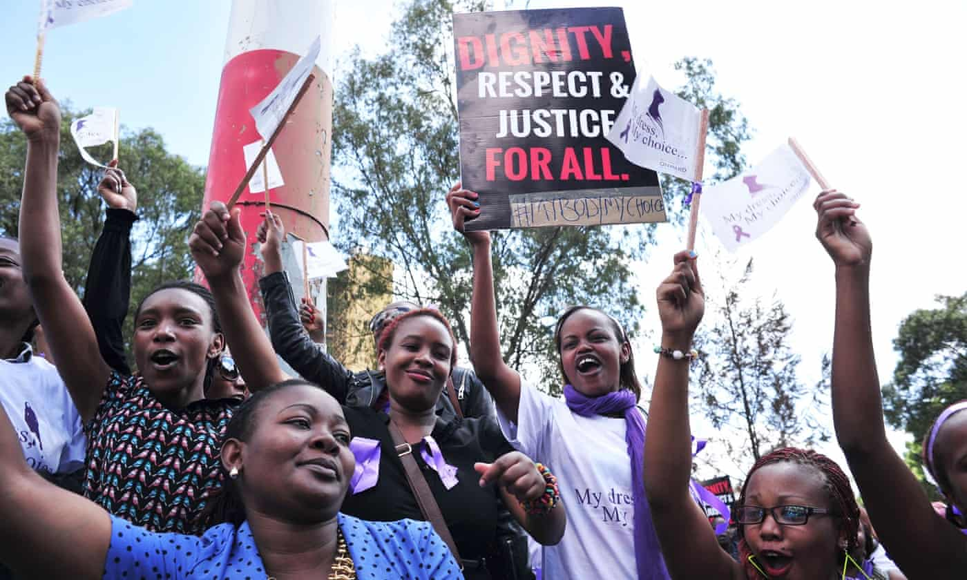 Kenyans protest after woman is beaten and stripped in public