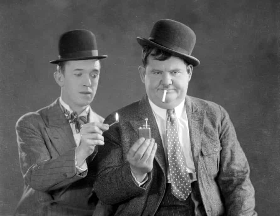 Onscreen chemistry… Stan Laurel and Oliver Hardy to be the subject of a biopic.
