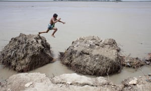 A child plays on Padma river in Bangladesh, where drowning accounts for 43% of deaths among those aged between one and four years old.