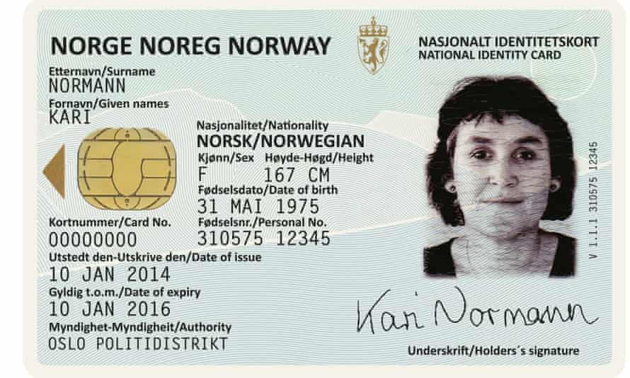 Neue have also designed a new ID card, which also features the Norwegian landscape in the background.