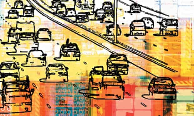 Abstract image of traffic