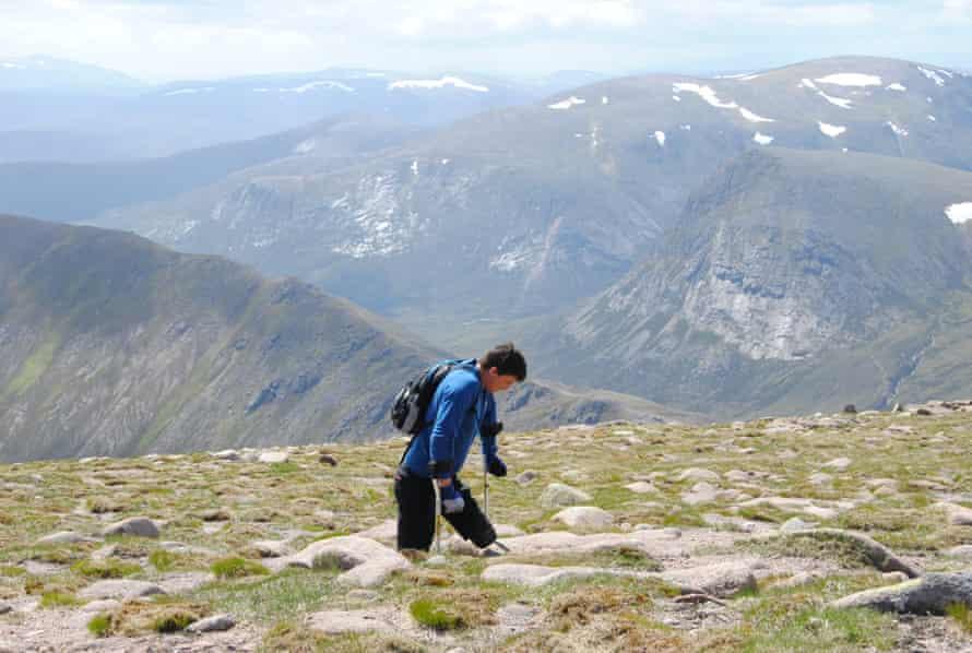 Nick Beighton climbing Ben MacDui.