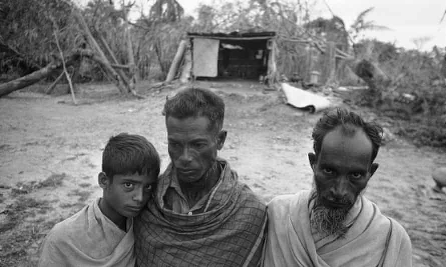 Survivors of the devastating cyclone that hit Bhola, then in East Pakistan, in November 1970.