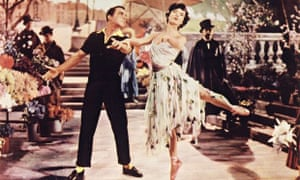 Still from An American in Paris, with Gene Kelly and Leslie Caron