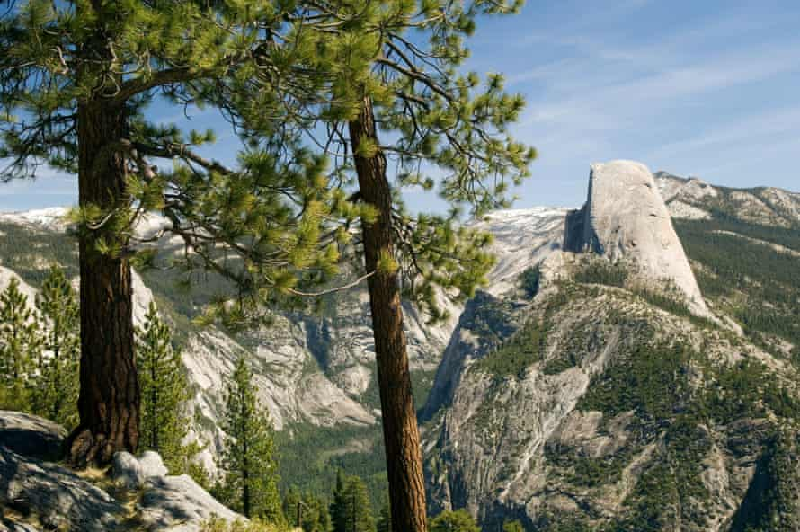 Half Dome (to the right) in Yosemite national park.
