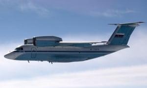 A Russian AN-72 transport plan