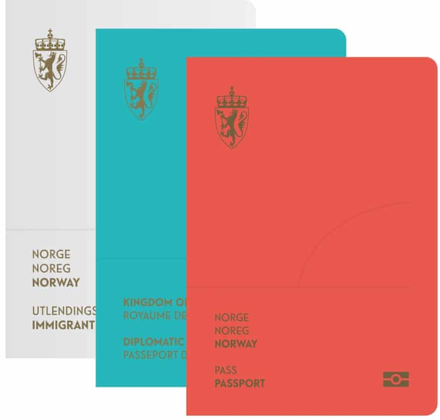 The design for the covers of the new passports is bold and striking.