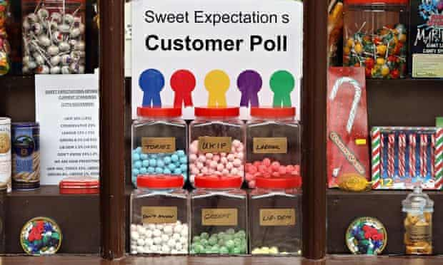 A customer poll on the Rochester and Strood bylection on display in the Sweet Expectations shop