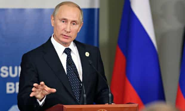 Vladimir Putin during the G20 summit in Brisbane. Amid criticism from several other leaders, the Rus